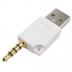 1X (Fehér USB 2.0 hím - 3,5 mm-es hím adatszinkronizáló töltő adapter csatlakozója az A0C7-hez