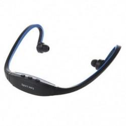 Fekete tekercs körül vezeték nélküli futó fejhallgató sport fülhallgató MP3 zenelejátszás N2Q0