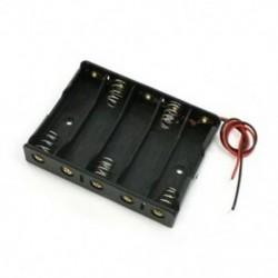 1X (5 x 1,5 V-os AA elemtartó-tartó tok doboz vezeték fekete W6I9)