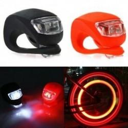 2 db szilikon kerékpárkerékpár-biztonsági LED fej első és hátsó hátsó lámpa W3L2