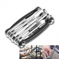 1 db 11 az 1-ben többfunkciós kerékpár-kerékcsavarkulcs láncvágó javítószerszámok Ki V4V6