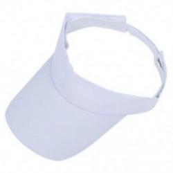 1X (Fehér Nap Sport Visor Hat sapka Tenisz Golf verejtékpánt fejpánt UV védelemmel N5X2
