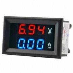 Digitális feszültségmérő Dc100V 10A voltmérő ampermérő kék   piros LED erősítő kettős W1P5