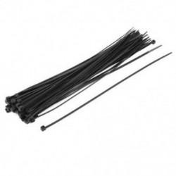 50x nylon önzáró hálózati kábel Zip nyakkendők hevederek rögzítők 3x250mm D5R6 L4Q3