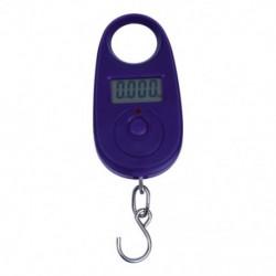 1X (25 kg-os hordozható mini elektronikus poggyász utazási mérleg horog lilaval K5D7)