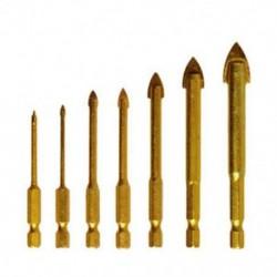 2X (7 db kerámia cserép üveg fúrószár, 1/4 hüvelykes Hex fogantyúkészlet 3-12mm, Chuc A1Y7-hez