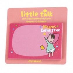 1X (1db véletlenszerű aranyos kis beszélgetésű lány matrica, feljegyzés, amely azt feljegyzi, hogy 30 She V4C8