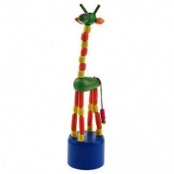 Gyerek fejlesztő játék baba táncoló hintaló álló színes zsiráf fa I5X2