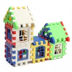 24 db gyermekek puzzle műanyag levél építőelemek ház játék I1O3