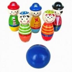 Játékok gyerekeknek Bowling Ball Wood Shape Fun for Kids játék N7C1