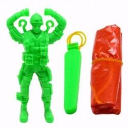 Műanyag kilökő ejtőernyős játék kültéri katona kézzel dobott ejtőernyős játékok N7C5
