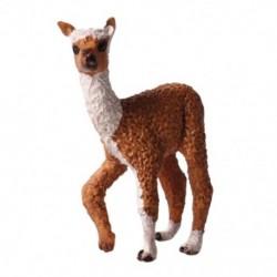 Alpaka figura játék vadállat szilárd statikus modell Alpaka műanyag gyermek U6P5