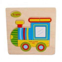 Fa aranyos vonat puzzle oktatási fejlesztő baba gyerekeknek edzőjáték H1W1