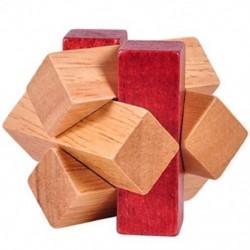 Fa kinyitó gyűrűzár Fa csomópont zár Logikai puzzle Burr rejtvények Brain Tea K0T3