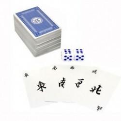 144 db / készlet Mah Jong papír Mahjong kínai játékkártya játék 2 db-os D3 kocka