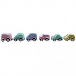 6 db vonzó Pull Back autójátékok Taxi modell Mini autók Versenyautó móka Vicces I6I2