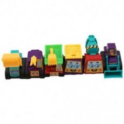 6 db vonzó hátsó autós játékok teherautó-modell Mini autók versenyautó móka vicces G6S9