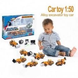 6 az 1-ben hidraulikus járművek sorozata Autós játék, 1:50 ötvözetű, extrém Q6W2