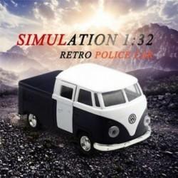 Kék szimuláció 1:32 hang és könnyűzene retro furgon rendőrautó ötvözet m R4B8