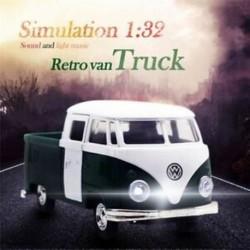 Zöld szimuláció 1:32 hang és könnyű zene visszahúzható retro teherautó expre S5V1