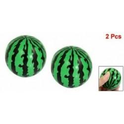 2X (SODIAL (R) gyermekhab-szorító stresszszivacs, zöld, fekete 2,3 &quot Dia Watermel I1M9
