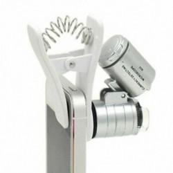 1 db univerzális 3LEDs mobiltelefon-mikroszkóp nagyító mikrolencsével 60X B9T3