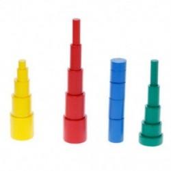 20 db / Set csecsemőjátékok hengerblokkjai Óvodai tanulás oktatási matematika T K7G1