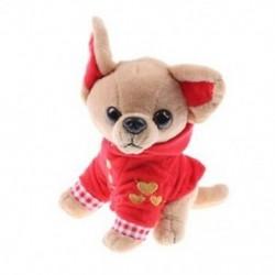 1 db 17 cm-es Chihuahua kölyökkutya-játék Kawaii-szimuláció állatbaba születésnap G A1Y9