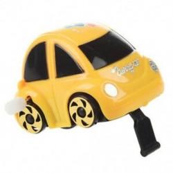 Sárga műanyag, feltekerhető óramű, versenyautó játék gyerekeknek P8C1