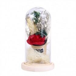 Led Rose villogó, világító, mesterségesen tartósított rózsa romantikus dekoráció J6R5