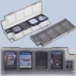 Fekete 8 az 1-ben játékkártya memóriakártya tok Sony PS Vita C7F2-hez