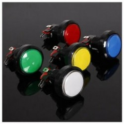 45MM világító LED-es világítású 5 színű arcade videojáték nagy kerek nyomógombbal E7L1