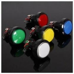 45MM világító LED-es világítású, 5 színű arcade videojáték nagy kerek nyomógombos P5F5