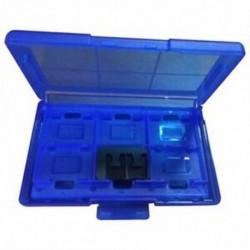 12 az egyben műanyag védőtok, játékkártya tárolódoboz kapcsolóhoz - kék M7T1