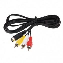 Tartós 1.8M 9 tűs audio-video AV kábel a Sega Genesis 2 3 A / V RCA C C1I5 készülékhez