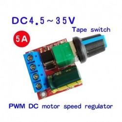 DC 5V-35V 5A 20kHz LED PWM DC motorvezérlő fordulatszám szabályzó dimmer