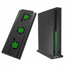 Függőleges állvány hűtőventilátorral az Xbox One X-hez, konzoltartó hűtő H6I1-vel