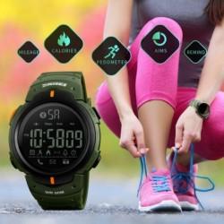 SKMEI férfi vízálló Bluetooth lépésszámlááló kalória Sport digitális óra karóra Telefon Mate Android
