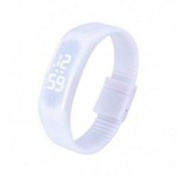 fehér - 1X (sportszilikon gumi fehér LED digitális karóra karkötő férfi nők kék L3G9)