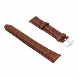 18 mm-es PU bőr barna karkötőóra karkötő New Fashion BT T4B4 W7K2