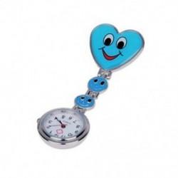 1X (kék szív kvarcmozgású klip ápoló, bross, fob tunika karóra mosolygó arc B6B3)