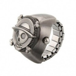 1X (aranyos koponya kalóz fém zseb ujj gyűrű karóra H5U1)