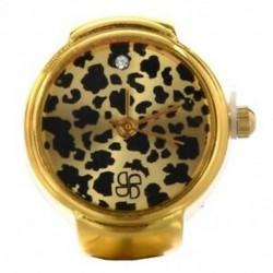 1X (arany tónusú, kerek fém leopárd zseb ujjgyűrűs óra 0,87 &quot HOT K7M7)