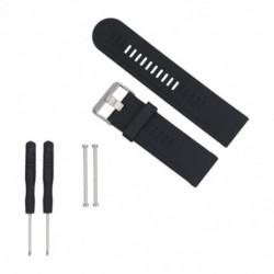 Puha szilikon szíj cserélő karóra Band Garmin Fenix 3 / HR Black N7X1