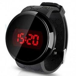 Férfi LED érintőképernyő dátum nap szilikon karkötő digitális LED érintőóra Y1N K6C8