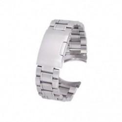 Ezüst szilárd rozsdamentes acél linkek 20 mm-es Z9I2 óraszíj-lehajtható végzáró kapcs