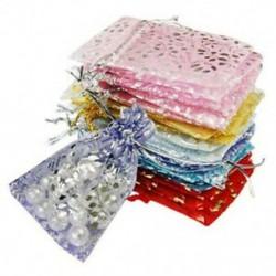 25x Organza ékszer esküvői ajándék táska 7x9cm / 3x4 hüvelykes színű Y9Z8