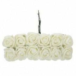 144db 2CM PE Rose Foam Mini virágcsokor egyszínű / esküvői dekoráció X9E8