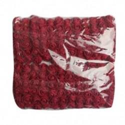 Bor vörös - 144db 2CM PE Rose Foam Mini virágcsokor egyszínű / esküvői dekoráció C5T7