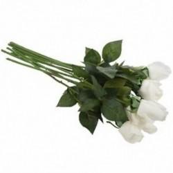 1X (10 db új, gyönyörű, valódi tapintású rózsa rügy-latex művirág a Hom A3S9-hez